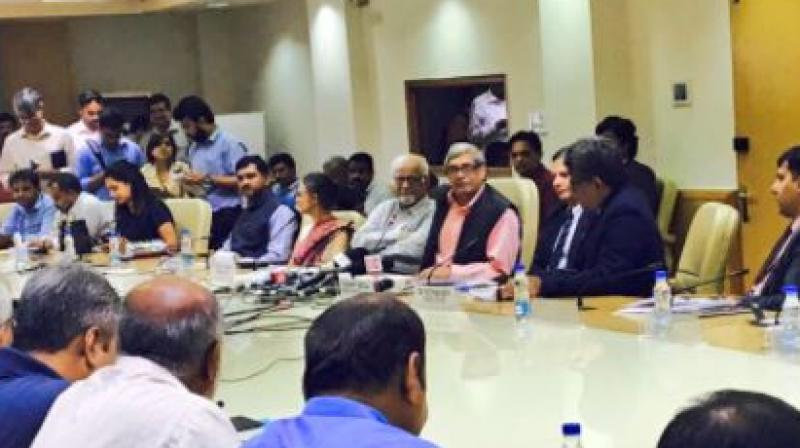 The Economic Advisory Council led by Bibek Debroy met on Wednesday and identified 10 core issues that it will work on. (Photo: Twitter  Niti Aayog)
