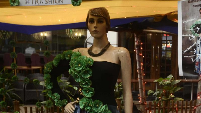 A model made from several waste material (Photo: Shripad Naik)