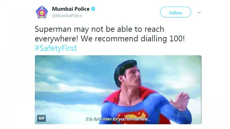 Screengrab of Mumbai Police's Tweet.