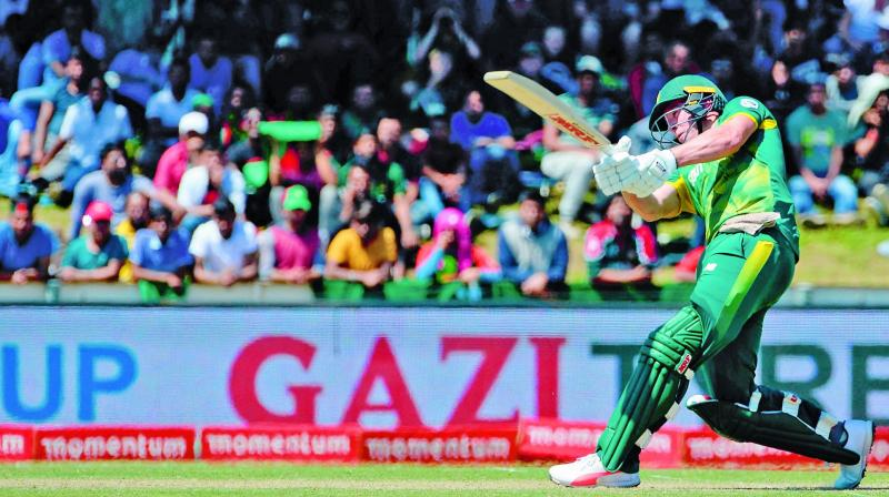 South Africa's AB de Villiers en route to his 176 against Bangladesh in the second one-dayer in Paarl on Wednesday. (Photo: AFP)
