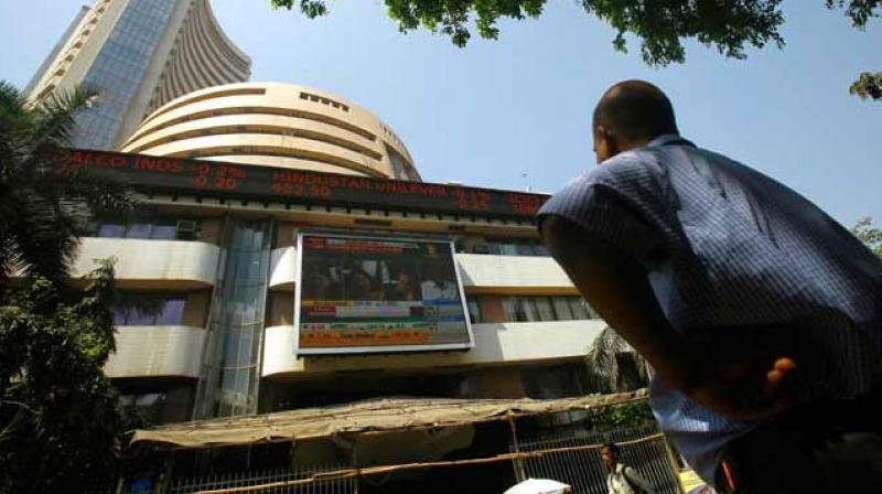 Surging for the ninth straight session, the BSE Sensex gained about 90 points to close at 34,395 on Tuesday. (Photo: AP)