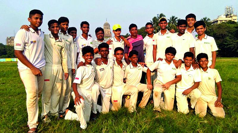 In the games, played at the Sunder Cricket Club wicket at Cross Maidan, the U-14 of Rizvi Springfield got the better of Swami Vivekanand School, Borivili, followed by the U-16 boys defeating Kurla's Al Barkat HS.