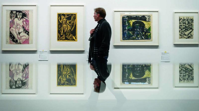The first exhibition of Cornelius Gurlitt's collection at the Museum of Fine Arts in Bern, on Wednesday. (Photo: AFP)