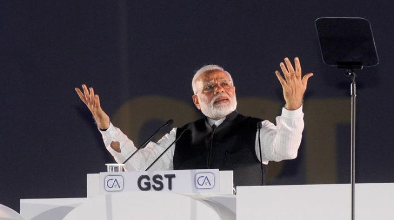Prime Minister Narendra Modi on Saturday promised to ease problems faced by small businesses due to GST. (Photo: PIB)