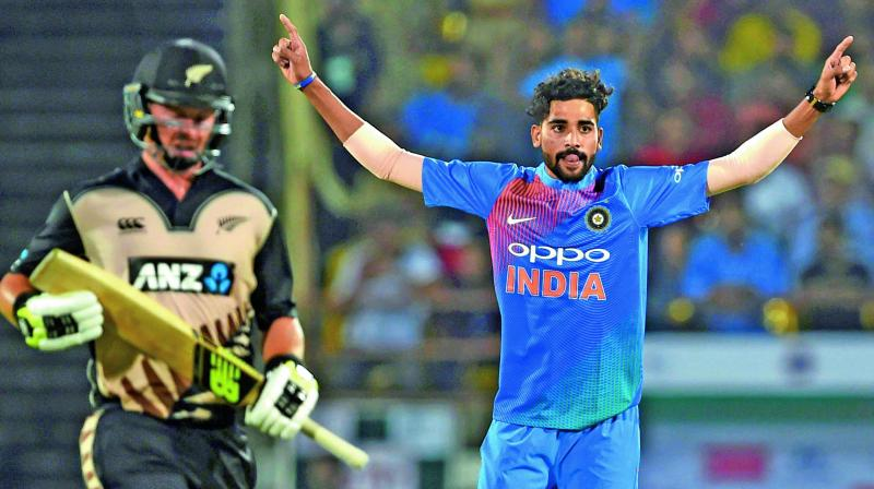 Mohammed Siraj conceded 53 runs from the four overs he bowled in the second T20 against New Zealand. (Photo: PTI)