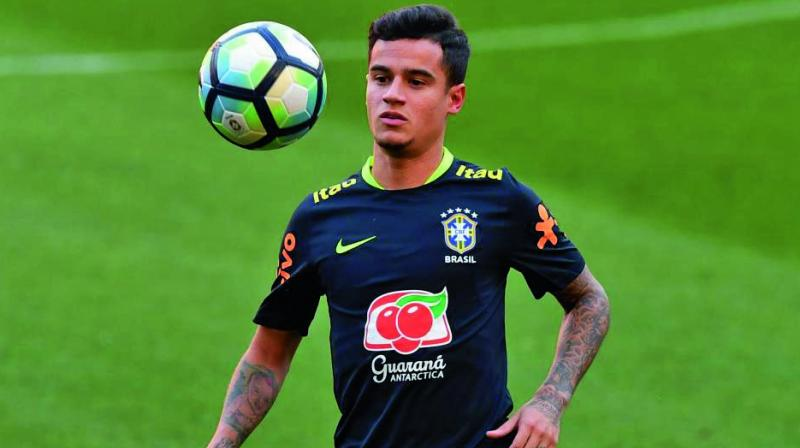 The Brazil midfielder travelled with Barca to their opening La Liga game of the season against Athletic Bilbao but was left out of the matchday squad. (Photo: File)