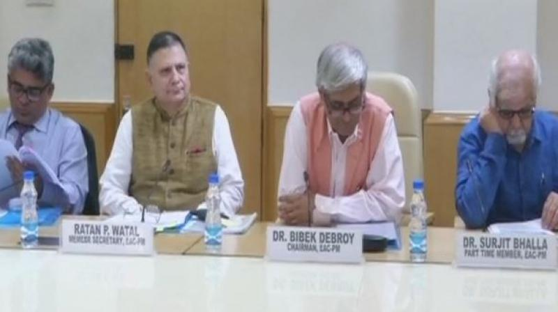 The Economic Advisory Council to Prime Minister Narendra Modi on Friday spelt out a road map for stepping up skill development, job creation and enhanced resource investment in the social sector. (Photo: ANI)
