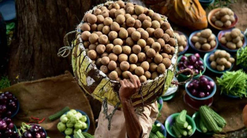Inflation in vegetables witnessed some softening with annual inflation at 40.77 per cent in January as against 56.46 per cent in the previous month.
