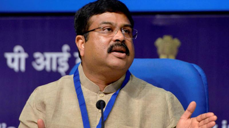 Union Petroleum Minister Dharmendra Pradhan said increase in fuel prices was due to reduced production of oil in OPEC and hike in crude oil price in international market. (Photo: File/PTI)