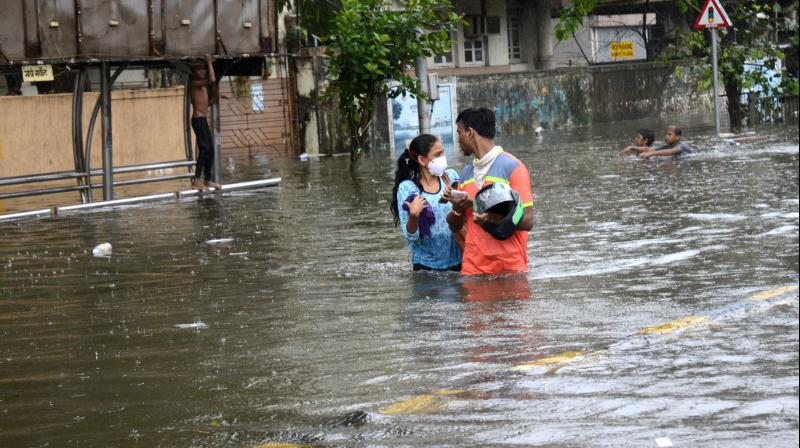 26 places across the city have reported flooding. Photo: Rajesh Jadhav