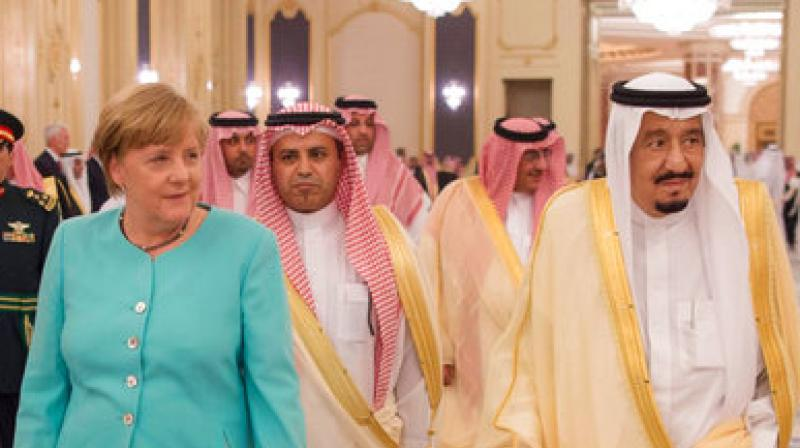 Merkel told journalists that she had pressed the Saudis on women's rights, the war in Yemen and other sensitive issues. (Photo: AP)