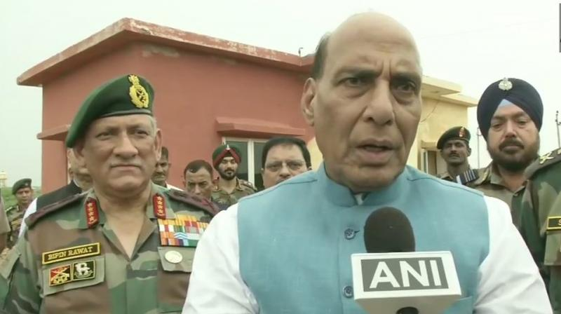 Singh said, 'Till today, our nuclear policy is 'No First Use'. What happens in future depends on the circumstances.' ( Photo: ANI | Twitter)