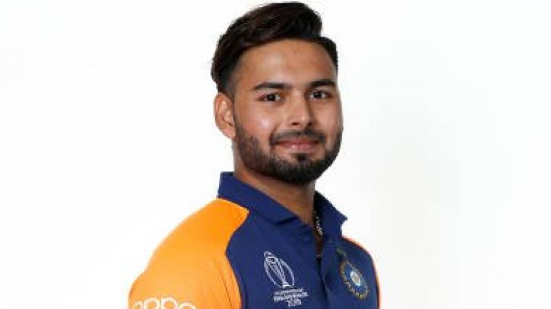 Pant was flown in as Dhawan's replacement and the 21-year-old finally made his debut in Sunday's loss to England (Photo: Rishabh Pant/Twitter)