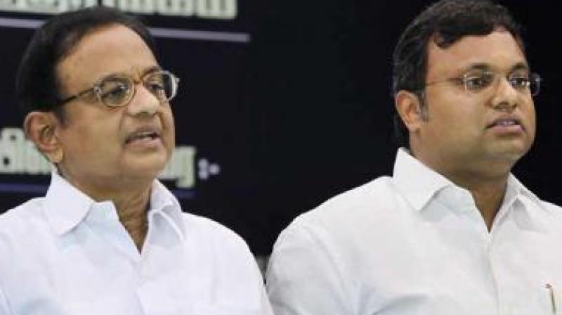 A Delhi court Thursday granted protection from arrest to former finance minister P Chidambaram and his son Karti in Aircel-Maxis cases filed by CBI and the Enforcement Directorate. (Photo: File)