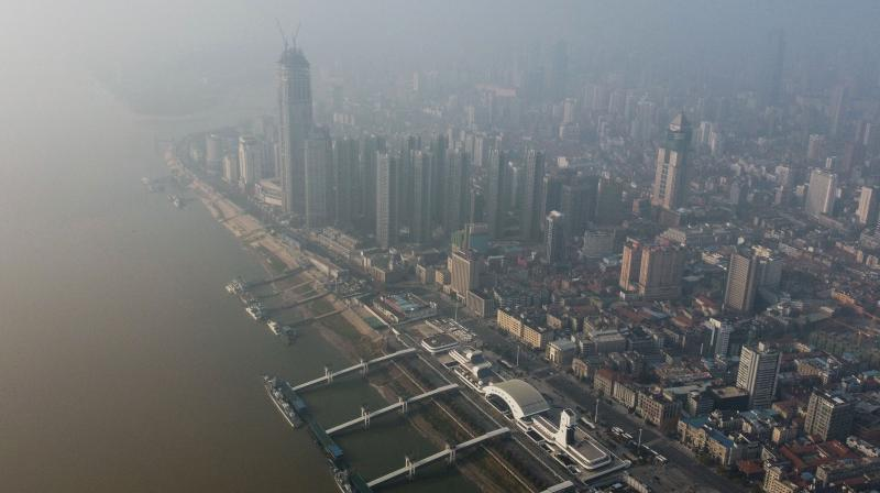 Aerial view of Wuhan in China's central Hubei province, which is the epicenter of the deadly coronavirus outbreak. (AFP)