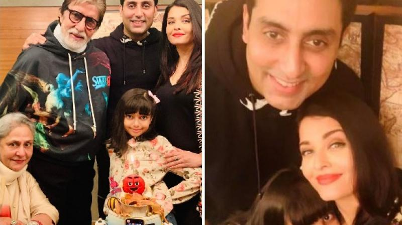 Abhishek Bachchan, 44: An intimate family picture. (Instagram)