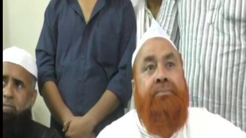 'Shariat says Talaq should be given in three stages. Whereas, triple talaq has been kept as an option for times like if, for example, you find your wife in a compromising situation with another man, what will you do? You will either kill her or give triple talaq to get rid of her. So to save a life, this was introduced,' Ahmed said. (Photo: ANI)