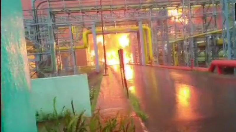 It said the fire broke out in a storm water drainage unit at its Uran plant and was doused within two hours. (Photo: ANI)