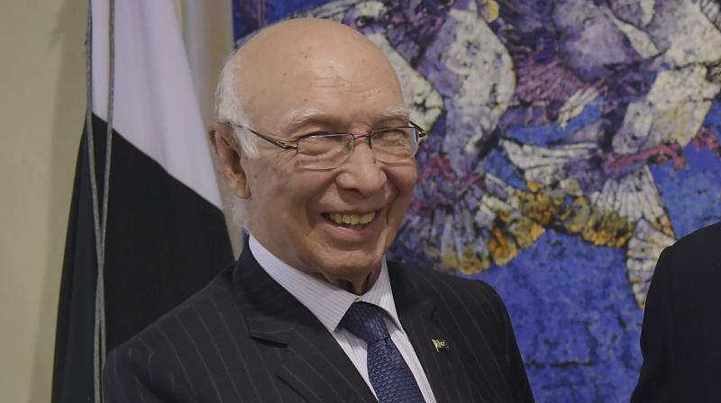 Pakistan Prime Minister's Adviser on Foreign Affairs Sartaj Aziz. (Photo: AP)