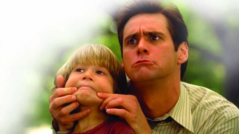 In the 1997 film Liar Liar, Jim Carrey plays a habitual liar who, after his son makes  a birthday wish, becomes unable to lie.