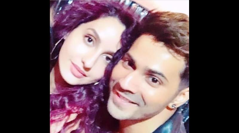 Varun Dhawan and Nora Fatehi. (Photo: Instagram)