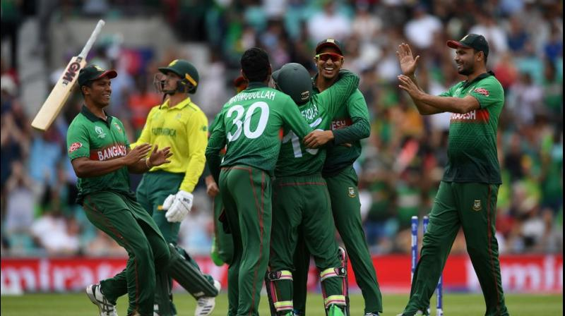 Mahmudullah's boisterous 46 not out from 33 balls pushed Bangladesh past their previous highest one-day international total of 329 for six against Pakistan in 2015. (Photo: Cricket world cup/twitter)