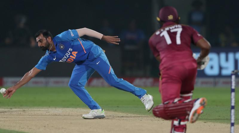 India pacer Mohammed Shami went past Trent Boult to become the leading ODI wicket-taker of the year 2019. (Photo:AFP)