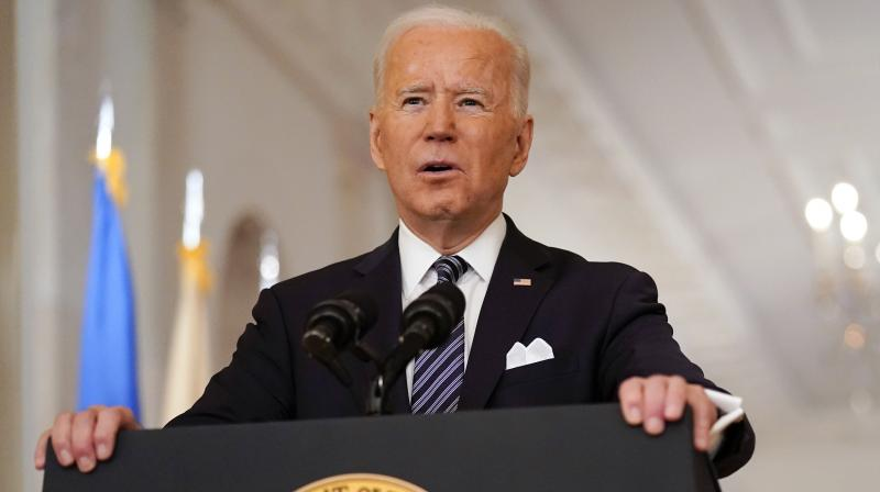 President Joe Biden speaks about the COVID-19 pandemic during a prime-time address from the East Room of the White House, Thursday, March 11, 2021, in Washington. (AP/Andrew Harnik)