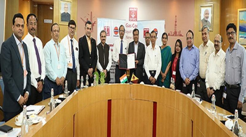 MoU is aimed to establish framework for mutually beneficial cooperation in carbon dioxide-based enhanced oil recovery as a mode of carbon capture utilisation and storage (CCUS). (Photo: ANI)