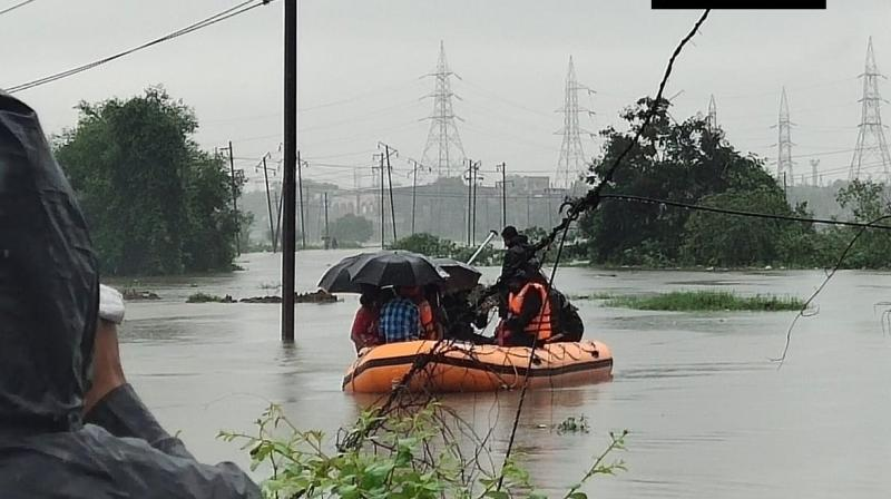 Due to heavy showers, their car got stuck in the subway and they could not come out. People later pulled the car out of the water and found the duo in an unconscious state. (Photo: ANI | Representational)