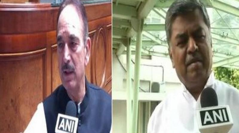 The Congress-JDS coalition government has slumped into a major crisis after 11 Congress MLAs resigned from the membership of Assembly on July 6. (Photo: ANI)