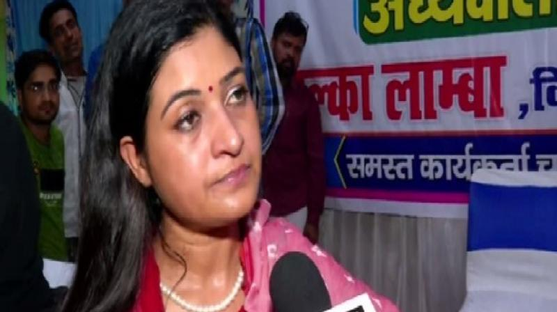 Lamba said the work related to the installation of CCTV cameras is pending in her constituency and Mohalla Clinics are not built. As a legislator, she will continue to work on these issues. (Photo: ANI)