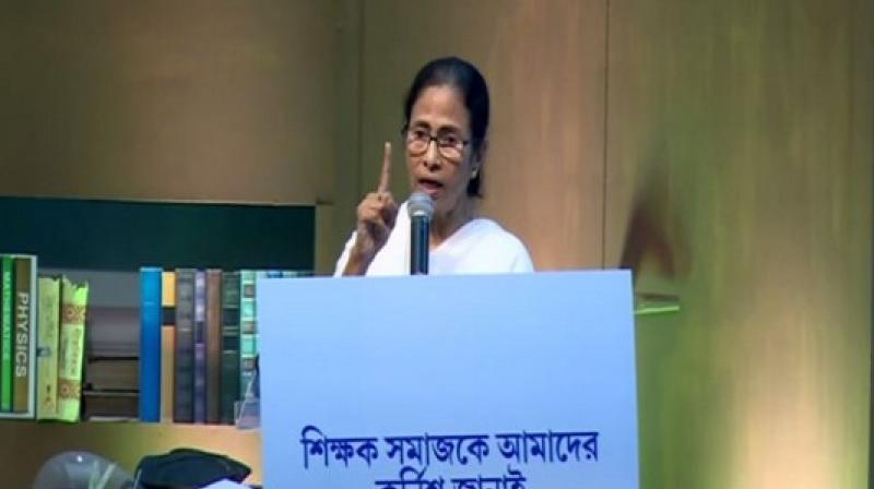 Taking an aim at the Central government, Chief Minister Mamata Banerjee on Sunday said there was a state of