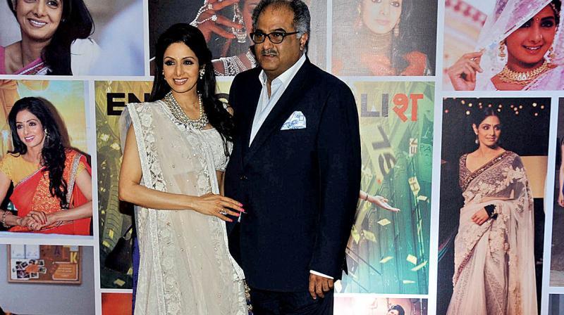 Boney Kapoor with wife Sridevi