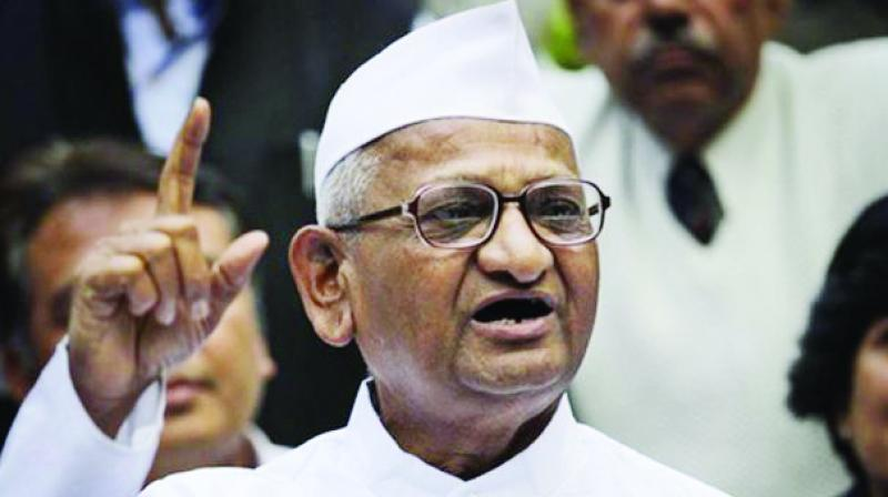 At a rally at Atpadi, Anna Hazare said he has no intention of garnering votes through his rallies and agitations. He said he believes there will be a similar agitation on farmers' issues. (Photo: File)