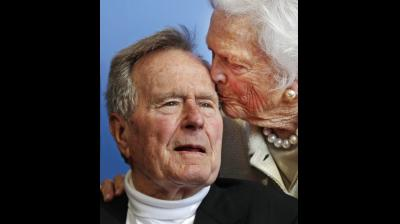 Former president George H.W. Bush died at the age of 94 on November 30, 2018, about eight months after the death of his wife, Barbara Bush. (Photos: AP)