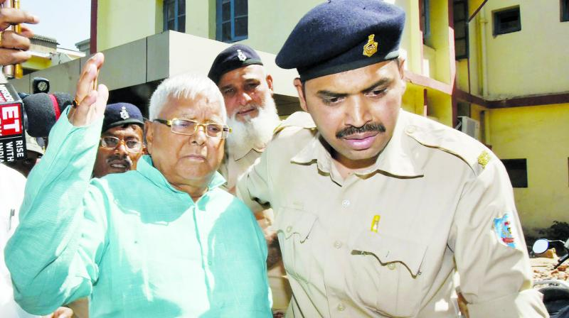 New Delhi: Rashtriya Janata Dal chief Lalu Prasad Yadav has moved the Supreme Court seeking bail in three fodder scam cases, citing ill health. (Photo: File)