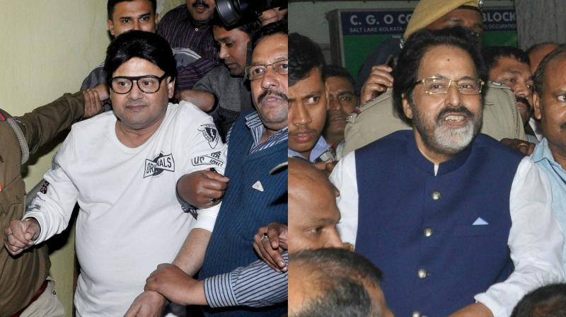 TMC MP Tapas Paul and Sudip Bandyopadhyay (Photo: AP)
