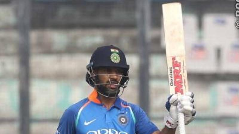 Shikhar Dhawan ended his prolonged bad patch with a career-best 143 off 115 balls and in Rohit Sharma's company guided India to a commanding 358/9 in the fourth ODI against Australia here on Sunday. (Photo: BCCI)