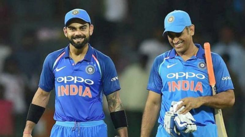 Skipper Virat Kohli's birthday wish for wicket-keeper batsman MS Dhoni became the most retweeted sports-related post of 2019, Twitter India revealed on Tuesday. (Photo:Twitter)