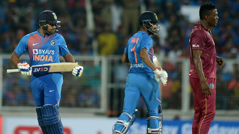Rohit Sharma doesn't want to lose his sleep over World T20 which is still some distance away and thereby lose his grip on the present where come Wednesday, India have a series to win against a competitive West Indies side. (Photo:AFP)