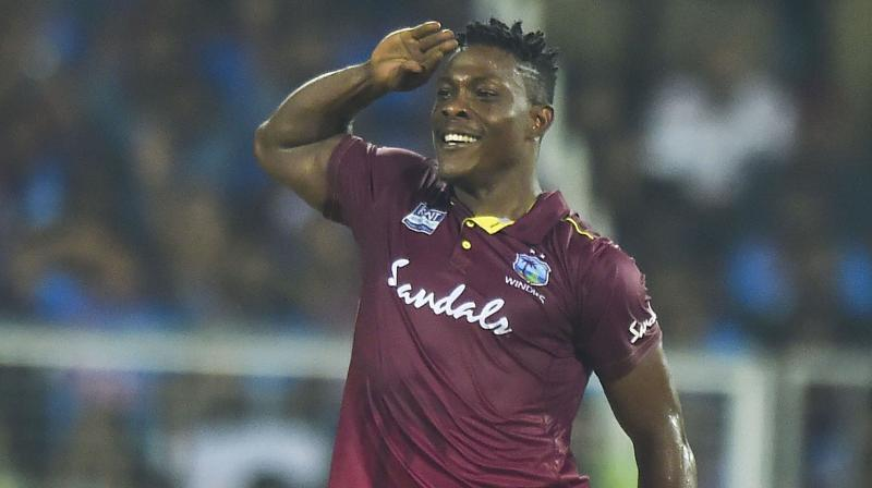 Ahead of the final T20I against India, West Indies coach Phil Simmons on Tuesday hailed Sheldon Cottrell saying that the bowler has been 'brilliant' in the series. (Photo:AFP)