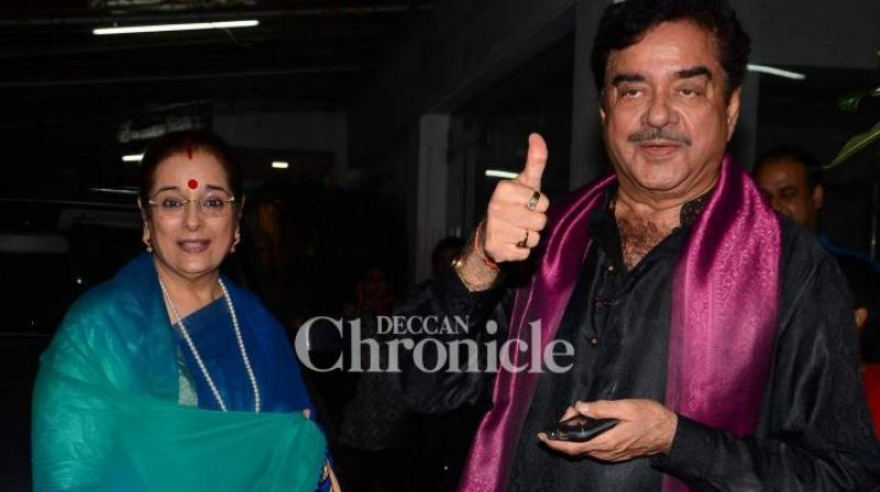 Patna Sahib's Congress candidate Shatrughan Sinha on Saturday said just as he stood by his wife and rival Samajwadi Party nominee from Lucknow, Poonam Sinha will discharge her 'patni dharma' and accompany him to his constituency later this month. (Photo: File)