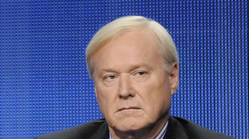 MSNBC 'Hardball' anchor Chris Mathews who announced his retirement on air after sexual harassment allegations against him. (AP)