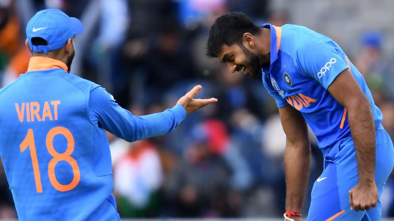 In the match against Pakistan, Shankar added 15 runs while in bowling he finished with a spell of 2-22. (Photo: AFP)