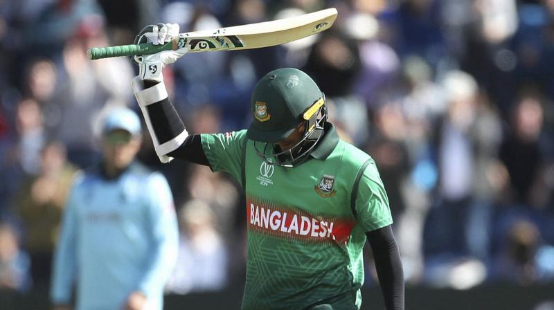 Bangladesh's top player Shakib Al Hasan is being kept away from practice ahead of the team's high-profile India tour on ICC's instructions, local media reported while claiming that the all-rounder is set to be banned for not reporting a corrupt approach. (Photo: AP)