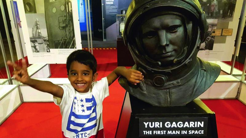The 6-year-old's constant interest in space led him to participate in many quiz competitions and other events held in Hyderabad.