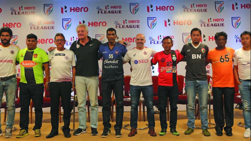 I-League coaches at an event in New Delhi.