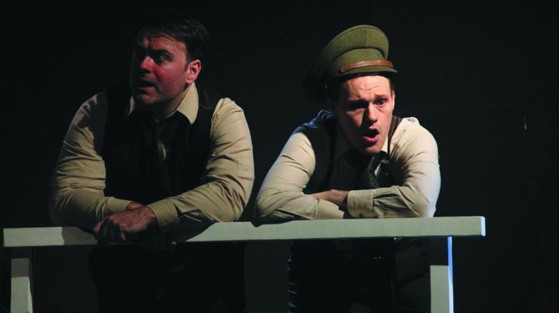 A scene from Irish play The Big Fellow. The play is about Michael Collins, the man who help Ireland gain freedom.