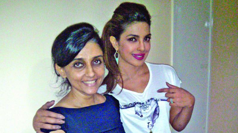 Ami with Priyanka Chopra.